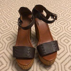Ralph Lauren Leather Platform Sandal
